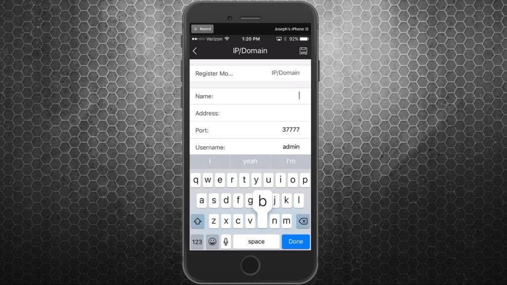 אפליקציה למצלמות אבטחה IPTecno Pegaso