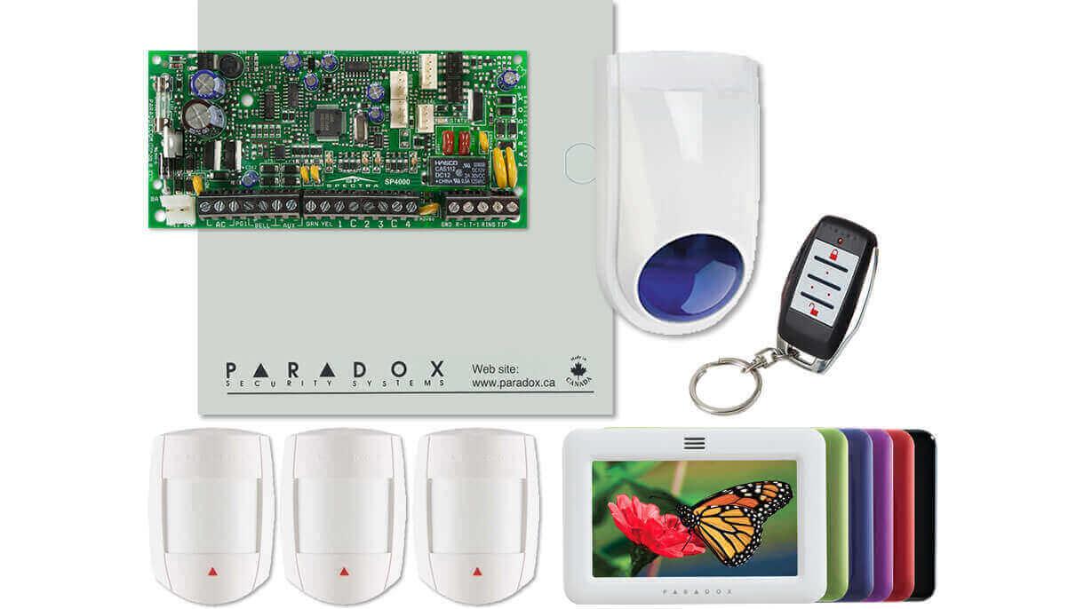 מערכות אזעקה לבית כולל מסך מגע וכלאי תנועה