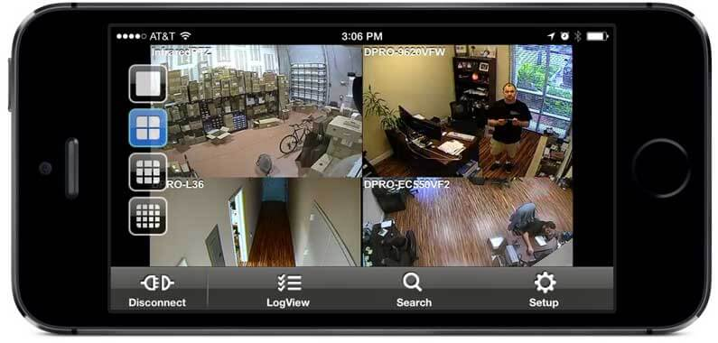 אפליקציית מערכת מצלמות אבטחה
