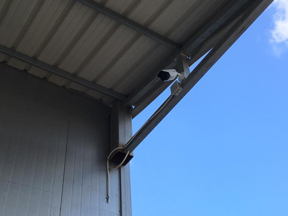 התקנת מצלמות אבטחה במפעל