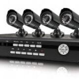 DVR ו-4 מצלמות אבטחה