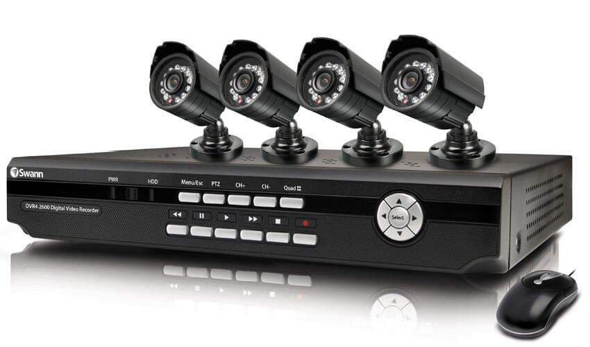 DVR מומלץ להקלטה ותיעוד 4 מצלמות אבטחה